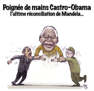 Obama, Castro, Cuba, Mandela, USA, réconciliation