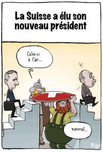 Ueli Maurer, Burkhalter, Président, Suisse, chef,