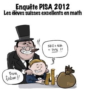 PISA, Mathématique, Suisse, podium, banquier, fils