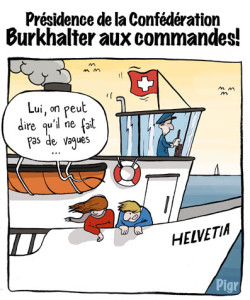 Ueli Maurer, Burkhalter, Président, Suisse, chef, pas de vague, Helvetia, capitaine