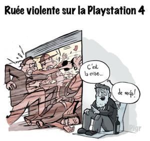 PlayStation, Crise, ruée, crise de nerfs, magasin, soldes, SDF