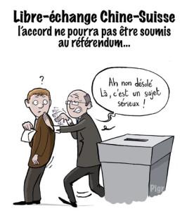 Libre échange, Chine-Suisse, urnes, votation, peuple, accord