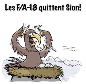 FA/18, Aéroport militaire, Sion, Armée suisse, Valais, aigle, avion de combat