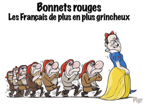 Grincheux, France, bonnets rouges, Hollande, Blanche neige, nains,