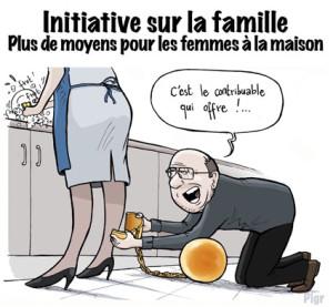 Femme à la maison, boulet, Initiative UDC, contribuable