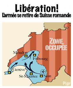 Armée suisse, Sion, retrait, budget, place d'arme, Suisse romande, Genève, Moudon, Fribourg, St-Maurice, Occupée, zone