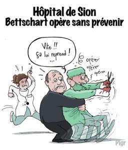 Bettschart, Hopital, Sion, Vigousse, opération