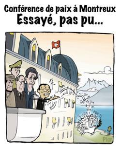 Conférence de Paix, Montreux, Palace, Colombe de la Paix, paix, Syrie