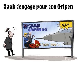 SAAB, Gripen, Suède, Suisse, promotion, publicité, campagne, prix, avion de chasse