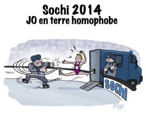 Sochi, JO, homophobe, police russe, patineur,