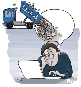 facebook, ennui, camion, ordinateur