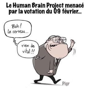 Blocher, cerveau, human brain project,