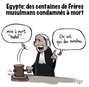 Halal, Egypte, condamnation à mort, frères musulmans