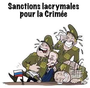 sanctions lacrymales, La Crimée, Poutine, Russie, Ukraine