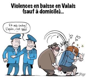 Violences domestiques, police, Valais,