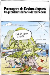 Avion disparu, crash, plage, île déserte